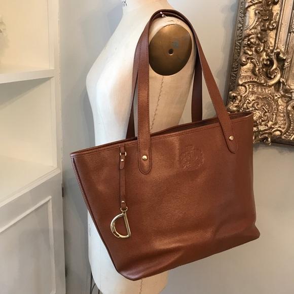 9c7b6e7719e0 Ralph Lauren leather tote set. M 5aabed4685e605b821b55288
